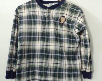 90s Tasmanian Devil Plaid Shirt Boys Large, Boys Vintage, Tasmanian Devil, Looney Tunes, Blue Plaid, Plaid Shirt, Boys Looney Tunes, 90s