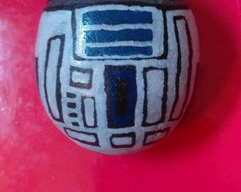 R2-D2 Hand-Painted Rock