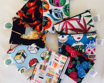 Handcrafted in Los Aangeles Unique & Vibrant Pouch by Glocal Vibe