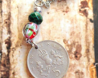 Vintage English mint. Pendant to a chain. 1968.