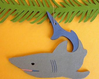 Shark Christmas tree ornament