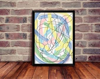 Abstract art, Wall art, Printable Art, Trendy Decor, Home Decor, Digital Art, Beautiful Print, Instant Download, ArtPrintForest