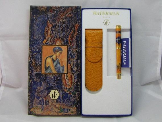 Pen Waterman Lady Anastasia Reve Latin Ochre Of Naples Gold