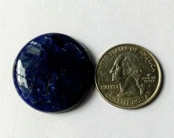 29.55 mm, Round Shape Sodalite,Attractive Sodalite /wire wrap stone/Super Shiny/Pendant Cabochon/Semi PreciousGemstone,silver jewelry