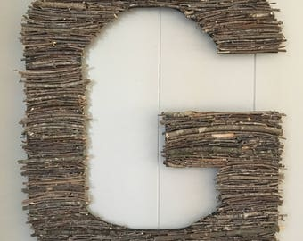 Stick Letters. Home Decor. Wood Letters.