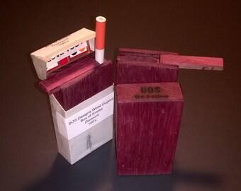 Purple Heart wood Non-removable slide top dugout