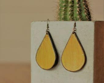 Sierra Mustard Earrings | Leather Earrings | Birthday Gift | Anniversary | Gifts under 25 | Handmade | Gifts for Her