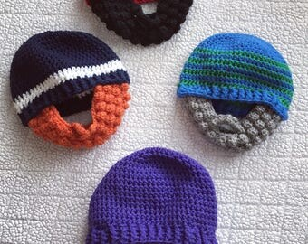 Crochet Bearded Beanie