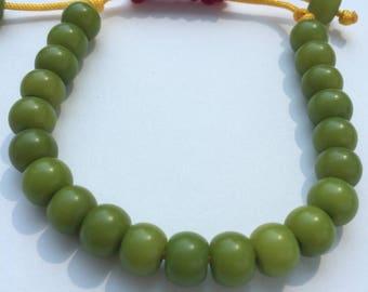 Green Bodhi Seed Adjustable Bracelet