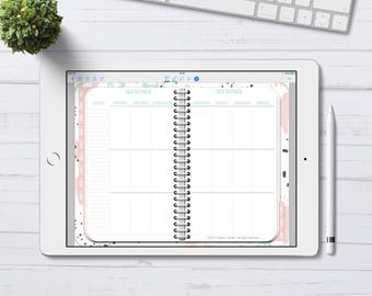 Digital Planner for GoodNotes, Undated Vertical Weekly Pastel Planner, Digital Planner with linked tabs, iPad Planner, iPad Pro Planner