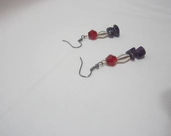 Handmade Amethyst Chip Earrings