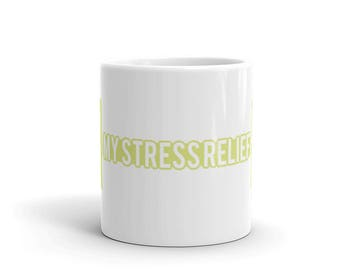 My Stress Relief - Fitness Workout Bodybuilding Weightlifting Gym Lover's Coffee Mug Gift