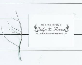 From the Library of Stamp Self Inking, Book Stamp, Custom Library Stamp, Birthday Gift, Bookwormers, Teacher Gift, Personalized Stamp, Gift