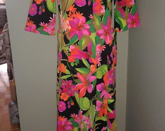 Multi-colored 70s Lounger Dress