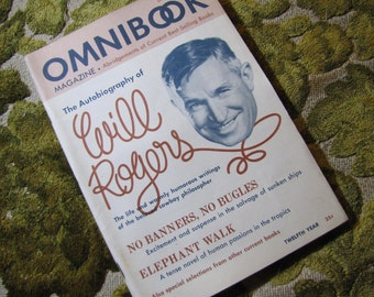 Vintage Omnibook Magazine December 1949 Issue - Best Selling Book Abridgements Will Rogers, Sunken Ships, Passion in the Tropics, and More!