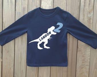 Dinosaur birthday shirt, boy birthday shirt, dinosaur birthday, toddler birthday shirt, dinosaur shirt, dinosaur party, birthday shirt boys