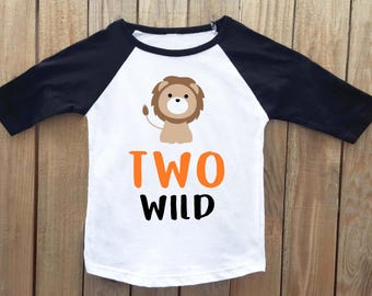 two wild birthday, second birthday shirt, 2nd birthday, lion birthday, lion shirt, lion birthday shirt, two wild birthday shirt, two wild