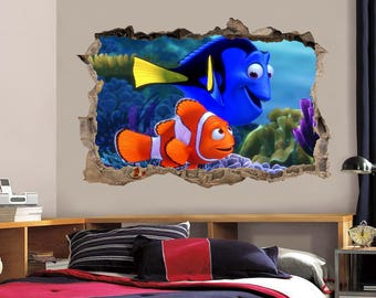 Finding Nemo Smashed 3D Wall Decal Sticker Vinyl Decor Mural Part 37