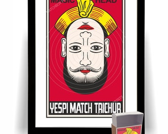 Magic Head Indian Matchbox Art Print + Replica Matchbox
