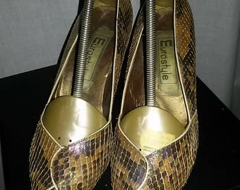 Women's pumps by Eurostyle-made in Germany-snake leather-size 4.5