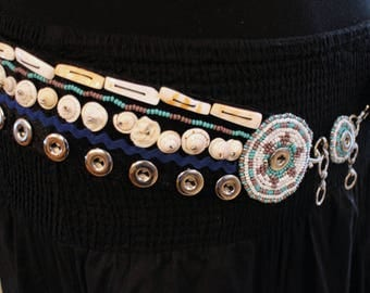 Tribal Fusion Bellydance Belt with Shells