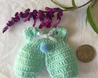 Crochet Baby Shower Favor   Overalls