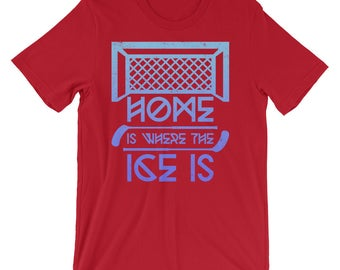 Home Is Where The Ice Is Men's Hockey T-Shirt