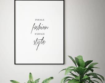 Fashion Quote Print, Printable Quote Print, Typography Poster, Home Decor, Printable Art, Fashion Print, Digital Art