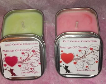 Massage Oil Candle All Natural Soy Wax