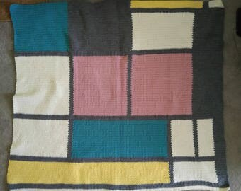 Mondrian Inspired Blanket