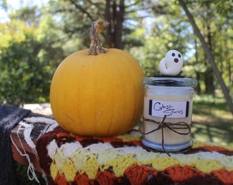 Halloween Homemade 2-wick Candle- Ghost Stories: Maple Vanilla Scented