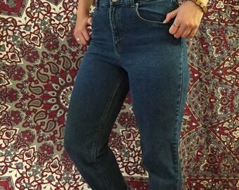 Vintage High waisted dark-wash Jeans