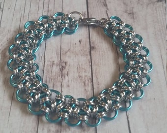Japanese lace chainmaille bracelet