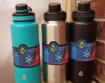 Etched Stainless Steel Bottle (40oz)