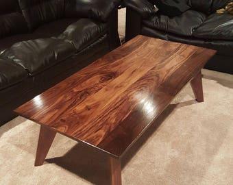 Solid Walnut Coffee Table/Living room/Table/Figured/Dark Walnut