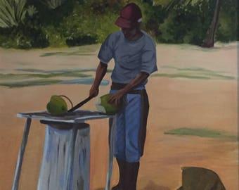 The Coconut's seller Art Print