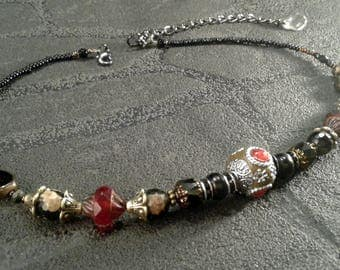 Necklace bohemian necklace women beaded necklace glass beads