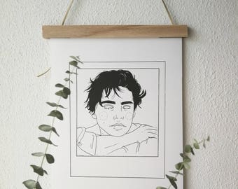 C O L E  P O L A R O I D - print illustration/ wall art/ portrait illustration