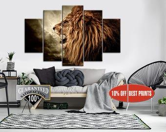 Lion Canvas, Lion Wall Art, Lion Poster, Lion, Lion Wall Decor, Lion Print, Animal Wall Decor, Animal Canvas, Animal Poster, Animal Print
