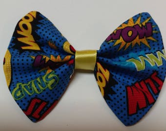 Comic Book Fight Cloth Hairbow