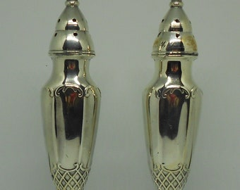 Vintage/Antique Silver plated/ pewter salt and pepper shakers.