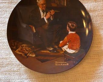 The Tycoon by Norman Rockwell - Collector Plate