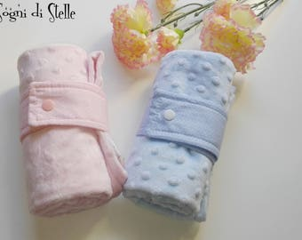Cover Reclosable-Baby-Minky-baby boy-gift idea-baby blanket-pink-blue