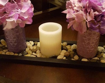 Mason jar center piece, candle holder,