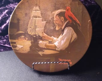 1980 Collector Plate Norman Rockwell the shipbuilder.