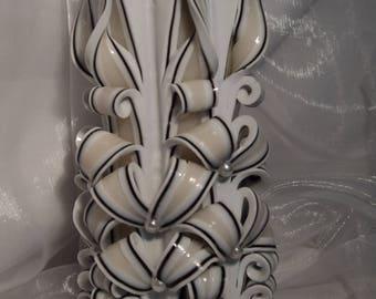 Carved  candles,   Gesneden kaars,  Decoratieve kaars,  Home décor,  Gift