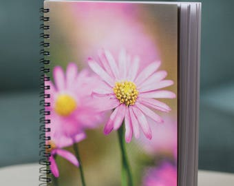 Pink daisy notebook - A5 unlined 90 pages - old stock sale