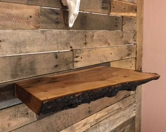 Maple Floating Live Edge shelf