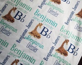 Personalized Baby Blanket,Monogrammed Baby Blanket, Custom Blanket, Baby Shower Gift