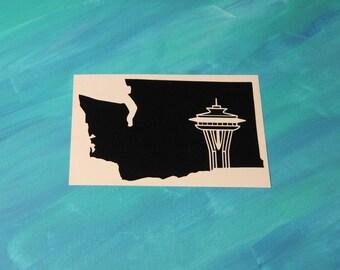 Seattle, Washington/Space Needle Vinyl Decal